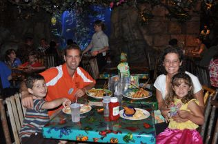 At the Rainforest Cafe in Downtown Disney